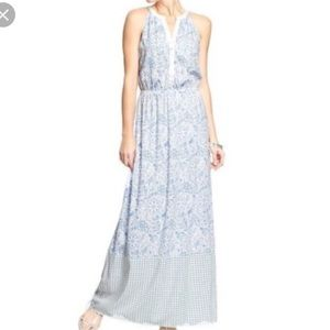 Old Navy Mixed Print Maxi Dress